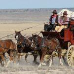 Stagecoach on Movie Set