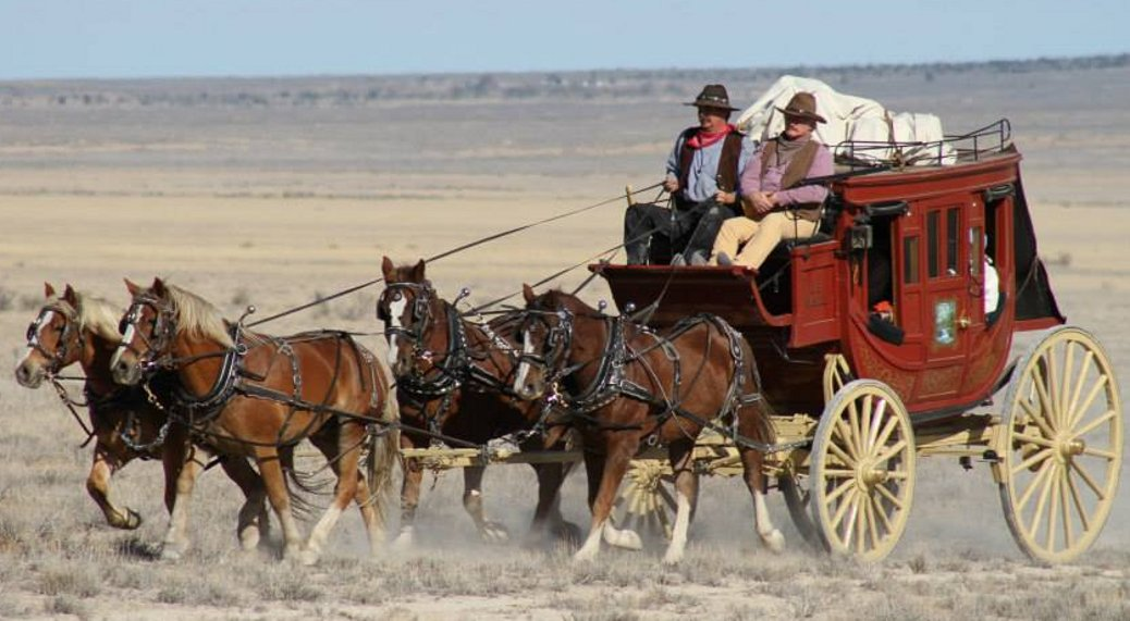 Stagecoach on Movie Set