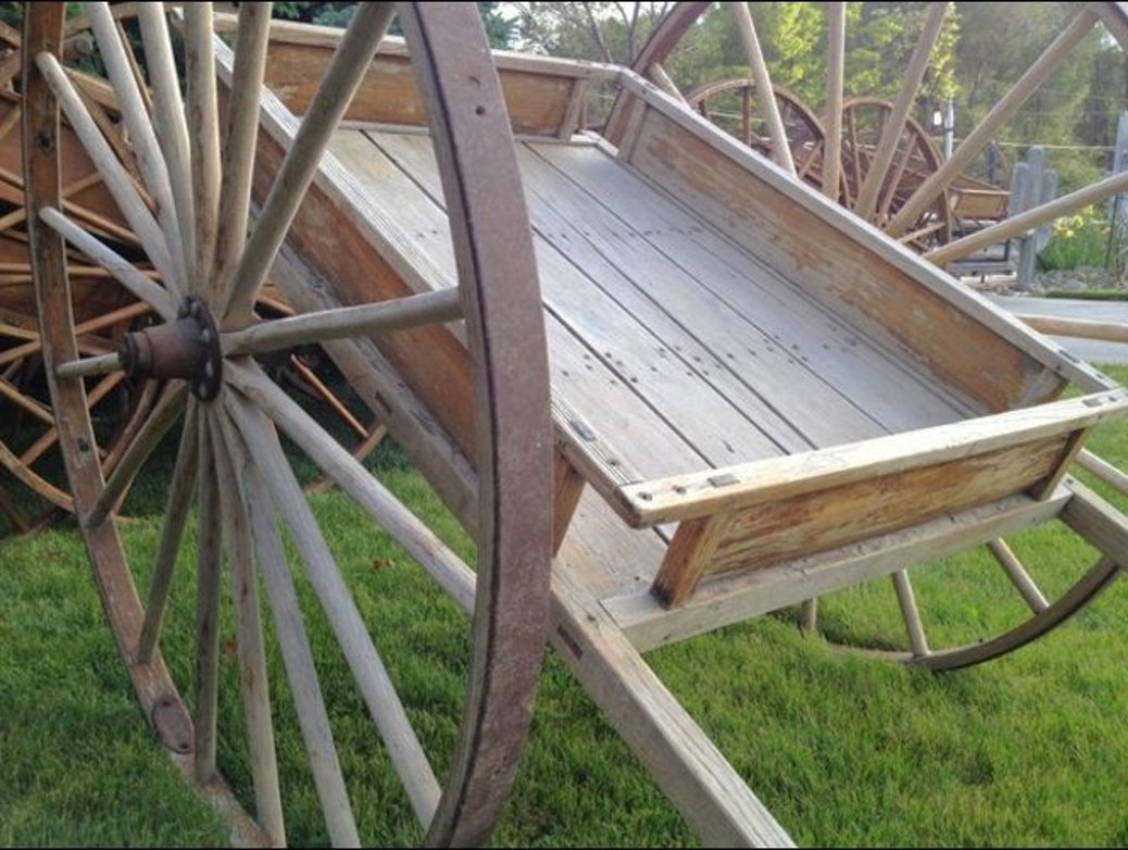 close up of handcart